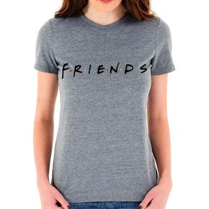 Friends Logo Color Dots Women's T-Shirt Triblend Gray