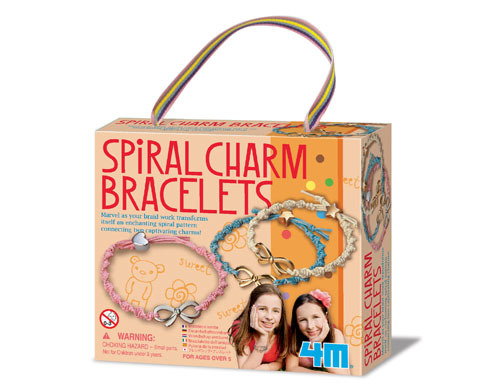 4M Spiral Charm Bracelets Girl Accessories