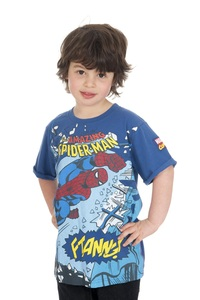 Marvel Spider-Man Smash Blue Boys T-Shirt