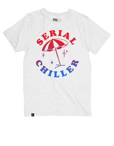 Dedicated Serial Chiller White Melange T-Shirt