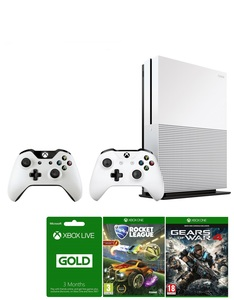 Xbox One S 1TB + Gears Of War + Rare Replay + Rocket League  + 3 Months Live + Controller