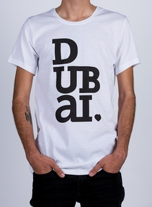 Dubailove White Round Neck Men's T-Shirt XL