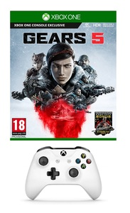 Gears 5 + Wireless Controller White [Pre-owned]