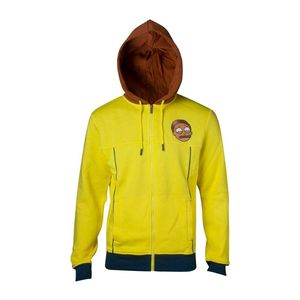 Rick & Morty Morty Novelty Mens Hoodie Yellow M