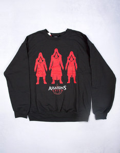 Assassin's Creed Characters Black Crew Sweater