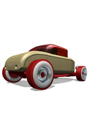 Automoblox Mini Hr-1 Hot Rod Coupe Red-186