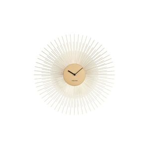 Karlsson Wall Clock Peony Steel Gold
