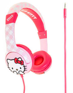 Hello Kitty Junior White/Pink On Ear Headphones