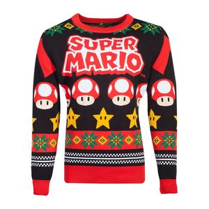 Difuzed Nintendo Super Mario Knitted Christmas Jumper
