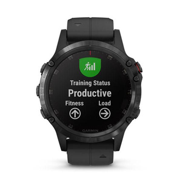 Garmin Fenix 5 Plus Sapphire Black with Black Band GPS Watch
