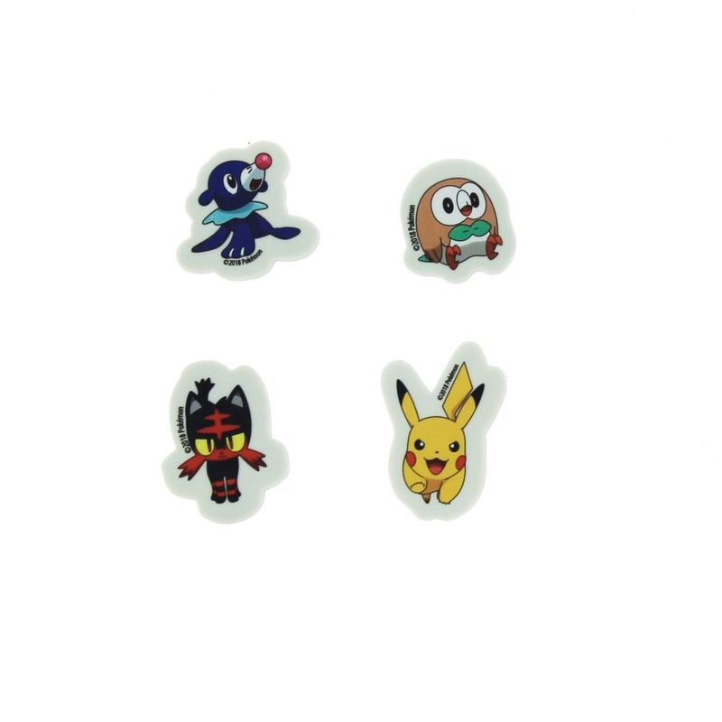 Blueprint Pokemon Sun & Moon Eraser Set