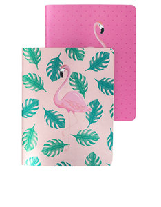 Go Stationery Flamingo Set Of 2 A6 Notebooks