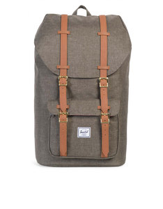 Herschel Little America Canteen Crosshatch/Tan Synthetic Leather Backpack