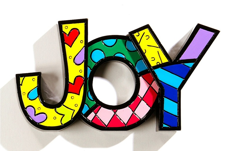 Romero Britto Jo Word Decor Figurine