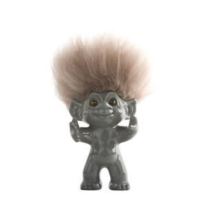 Good Luck Troll Grey with Natural Hair Statue [12 cm]