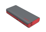 Cygnett Chargeup Pro 11000Mah Grey W/Red Trim Dual-Usb 2.1Amp Power Bank