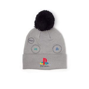 Playstation Silver Logo Beanie With Pompon Unisex Beanie