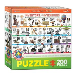 Eurographics Inventors and Their Inventions Kids Puzzle [200 Pieces]