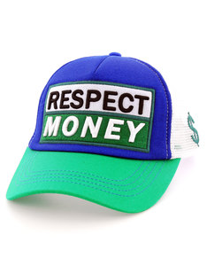 B180 Respect Money Green/Blue/White Cap