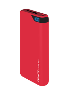 Cygnett ChargeUp Boost 15000mAh Red Power Bank