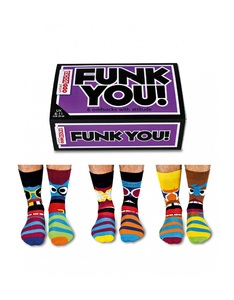 United Oddsocks Funk You Mens Socks [Set of 3 Pairs]