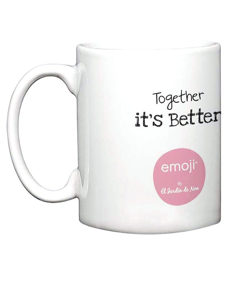 Emoji Together Is Better Noa Mug Mugs Tumblers Drinkware