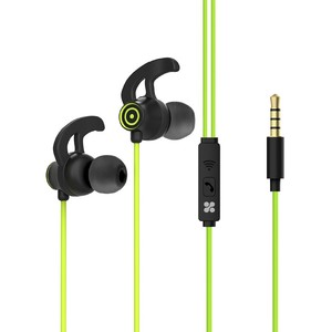 Promate Swift Green Heavy Bass Wired Earphones with In-Line Mic