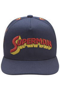 Fabric Flavours Superman Retro Logo Navy Kids Cap