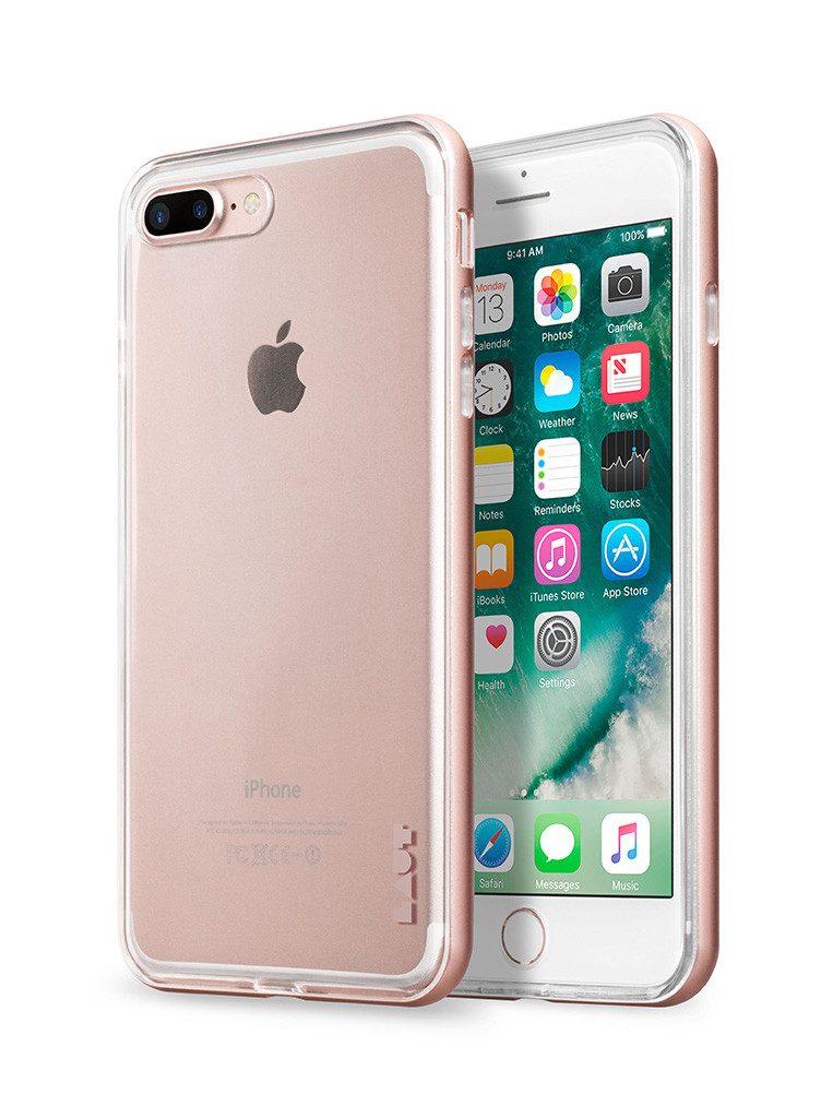 iphone 7 plus rose gold. laut exoframe tpu case rose gold iphone 7 plus iphone l