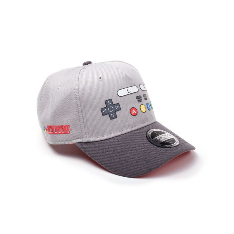 Difuzed Nintendo Snes Buttons Curved Bill Cap Grey
