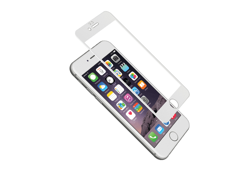Cygnett 9H Screen Protector W/Silicone Boarder Clear/White iPhone 6 Plus