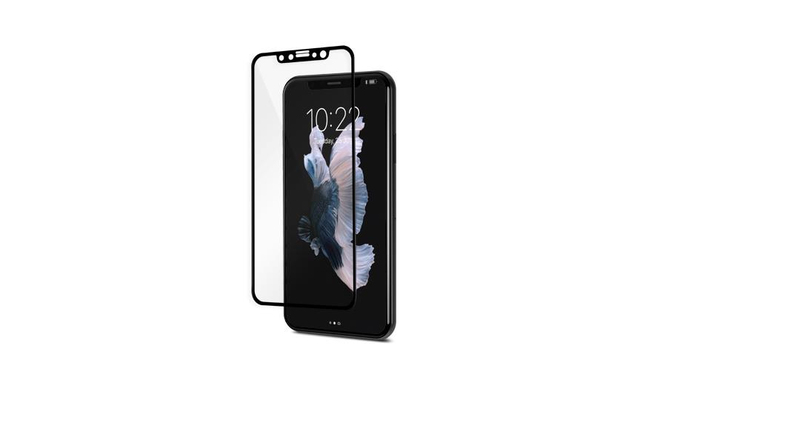 online retailer a9870 a5636 Moshi Ionglass Black Screen Protector for Iphone X