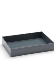 Poppin Inc Medium Accessory Tray Dark Gray