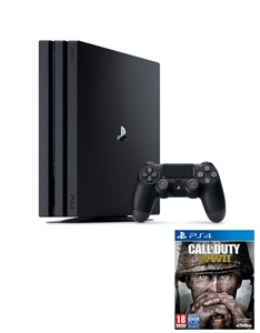 Sony PS4 Pro 1TB 7016B Jet Black + Call Of Duty WII