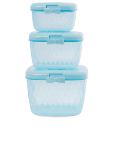 Miss Etoile Light Blue Bow Container Set Of 3