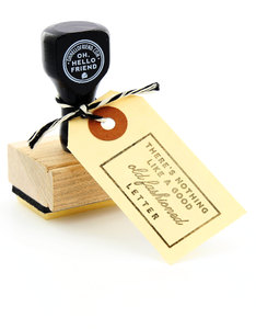 Oh Hello Friend Old Fashioned Letter Rubber Stamp