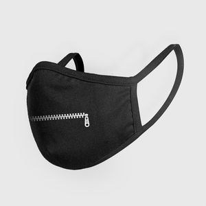 Mister Tee Fashion Mask Zipper Black