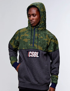 Cayler & Sons BL Blocked Hoody Heather Grey/Woodland Camo