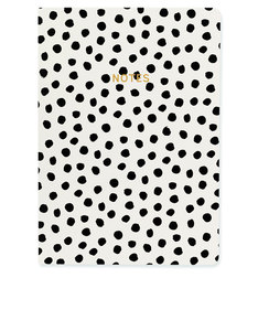 Go Stationery Monochrome Painterly Dots A5 Notebook