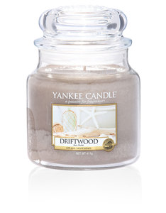 Yankee Candle Light Brown Classic Jar Medium Driftwood
