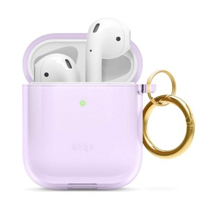 Elago Clear Hang Case Lavender for AirPods