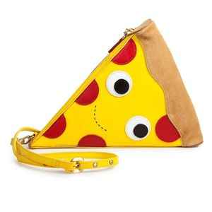 Kidrobot Yummy World Leather Pizza Clutch Purse Bag