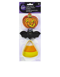 Wilton Cookie Cutter Bat Jack-O-Lantern [3 Pieces]