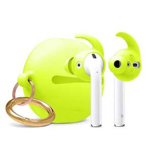 Elago Hook Earbuds Cover Neon Yellow with Pouch for AirPods