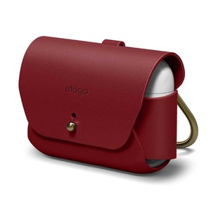 Elago Genuine Leather Case Red for AirPods Pro