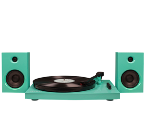 Crosley T100 Turntable System Turquoise