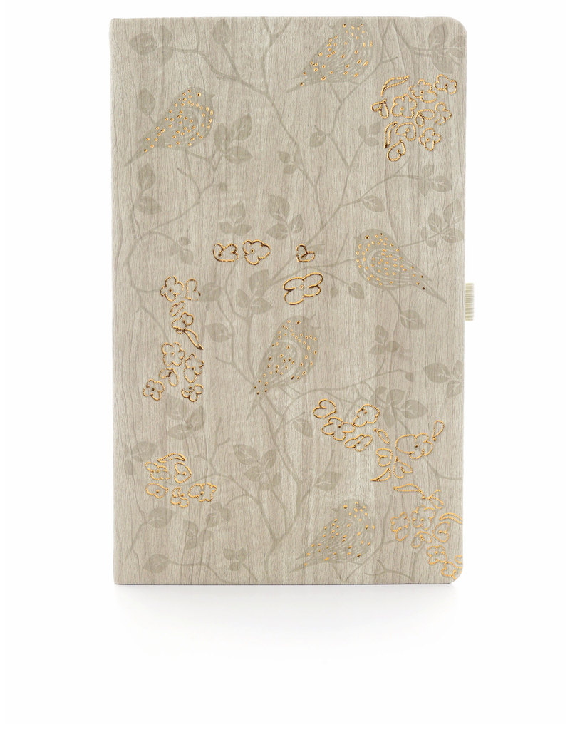 Ivory Robin Offwhite Desk Notebook