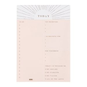 kikki.K B5 Daily Notes Pad She Shines Blush