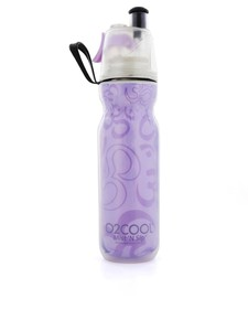 O2Cool Insulated ArcticSqueeze Mist 'N Sip Yoga Purple 590ml Water Bottle