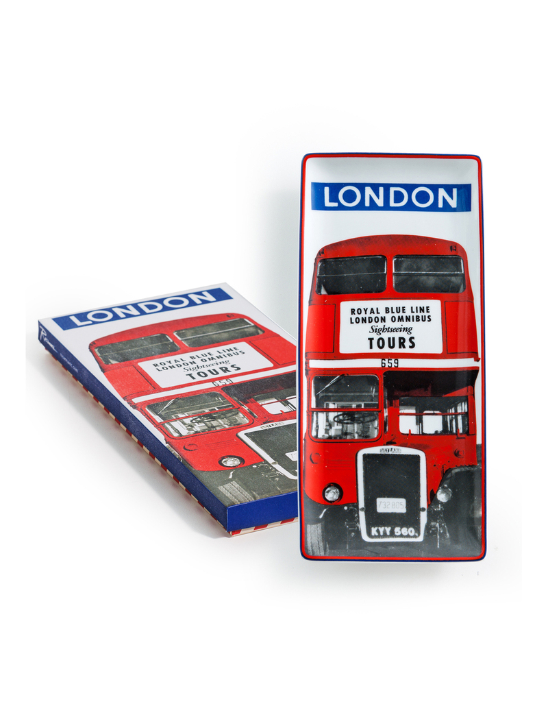Rosanna Come Fly With Me London Tray Blue & Red